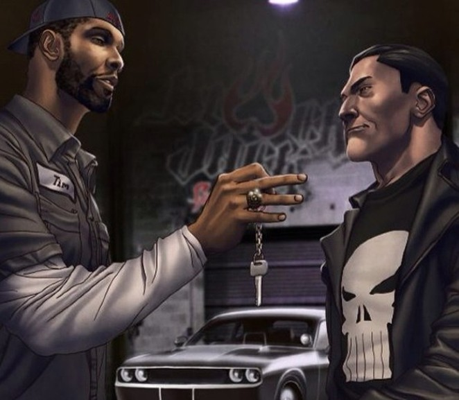 Tim Duncan may be known for his feats on the court, but outside of the game he's a big old nerd. People looking to find cool collectables to commemorate Duncan's retirement would want to get their hands on a limited edition copy of The Punisher, which features Duncan on the cover. - COURTESY