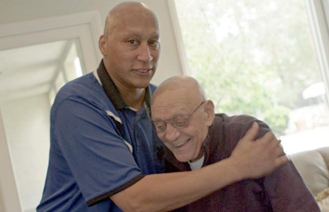 Lloyd Daniels and late coach Jerry Tarkanian. - BLOWBACK PRODUCTIONS