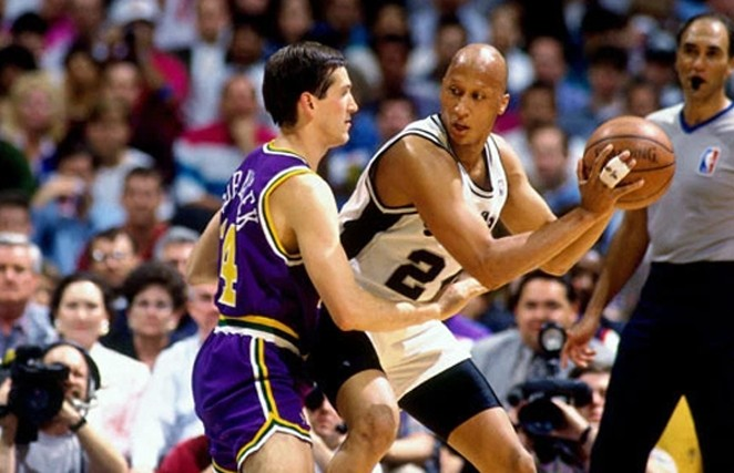 Lloyd Daniels played two seasons with the San Antonio Spurs, from 1992-1994. - NBA