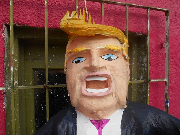 An original Trump piñata from Piñateria Ramierz. - PIÑATERIA RAMIREZ/FACEBOOK