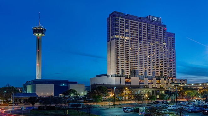 Roughly 70% of the Grand Hyatt's room revenue comes from conventioneers, according to Moody's Investors Service. - COURTESY PHOTO / GRAND HYATT