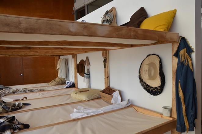 """A reimagined barrack for braceros anchors José Villalobos' new Artpace exhibition """"De los Otros."""" - BRYAN RINDFUSS"""