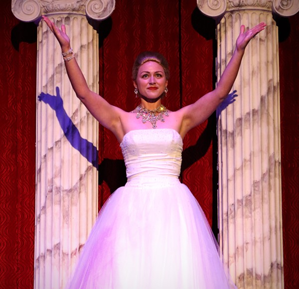 LAUREN WERTZ-JAMES STARS AS EVITA IN THE WOODLAWN'S PRODUCTION OF EVITA
