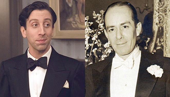 Actor Simon Helberg (left) portrays late piano accompanist and composer Cosmé McMoon in the film Florence Foster Jenkins. - COURTESY PHOTOS