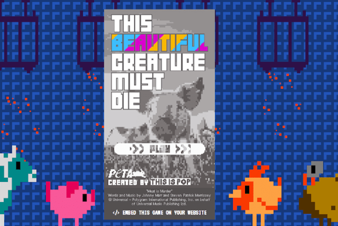 'This Beautiful Creature Must Die' loading screen - PETA.ORG