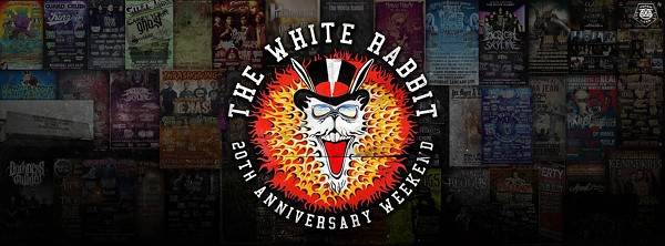 White Rabbit's 20th Anniversary poster - THE OFFICIAL EVENT PAGE ON FACEBOOK.COM