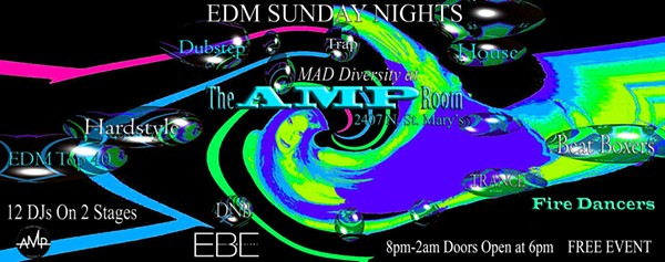 A Sunday EDM Night poster - EDM NIGHT'S OFFICIAL EVENT PAGE