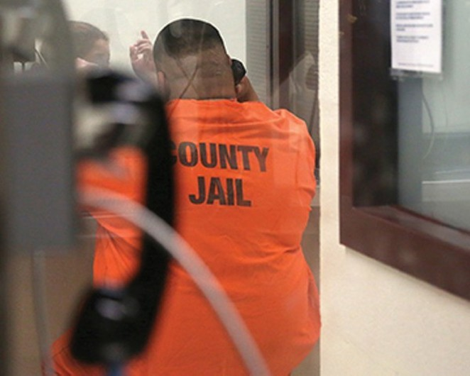Face-to-face visits will become a thing of the past in Bexar County jail starting September 3. - COURTESY
