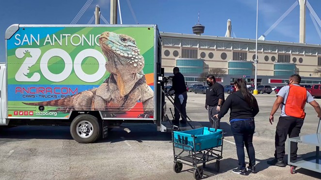 The San Antonio Zoo's catering crew delivered a truckload of boxed lunches to the Alamodome. - COURTESY OF SAN ANTONIO ZOO