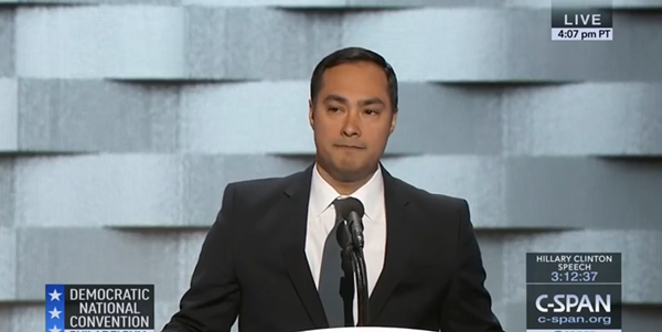 Joaquin Castro speaking at the Democratic National Convention last month