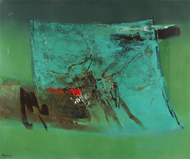 Tikashi Fukushima, Verde (Green), 1972, oil on canvas. © OAS AMA | Art Museum of the Americas Collection. - COURTESY OF SAN ANTONIO MUSEUM OF ART