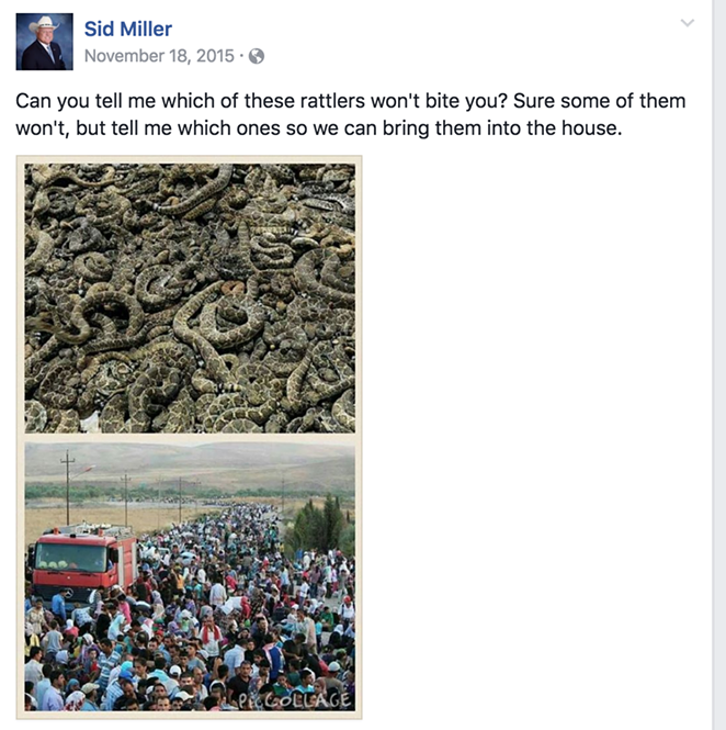 Texas Agriculture Commissioner posted this about refugees.