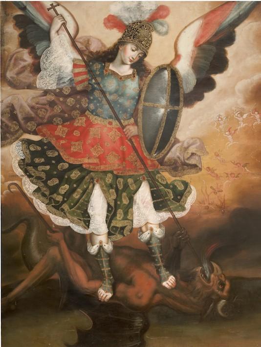 SAINT MICHAEL THE ARCHANGEL, PERUVIAN, CUZCO, 18TH CENTURY