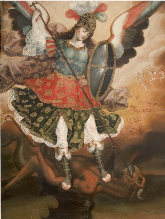 SAINT MICHAEL THE ARCHANGEL, PERUVIAN, CUZCO, 18TH CENTURY