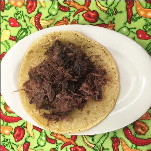 Barbacoa taco from La Bandera Molino - KIM OLSEN
