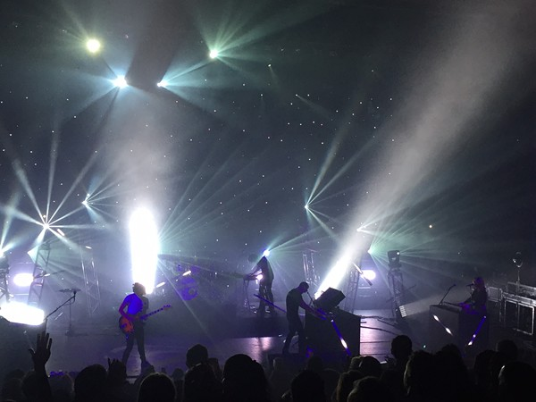 French rockers M83 turned the Aztec into a dream-pop star-scape Monday night. They're just one of a handful of ACL headliners playing in San Antonio this week for the first time.