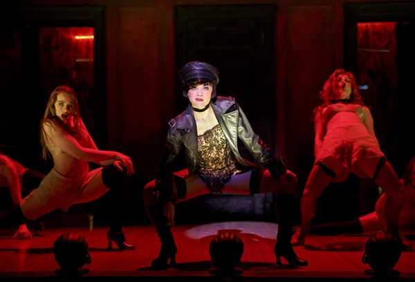 SARAH BISHOP (AS HELGA), ANDREA GOSS (AS SALLY BOWLES) AND ALISON EWING (AS FRITZIE)