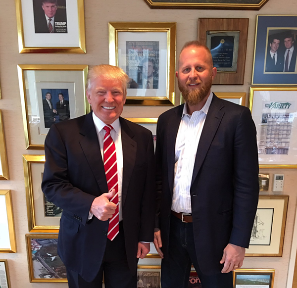 """In a new interview with Bloomberg Businessweek, SA tech entrepreneur Brad Parscale says he's """"like family"""" with the Trumps - SCREENSHOT, TWITTER @BRADPARSCALE"""