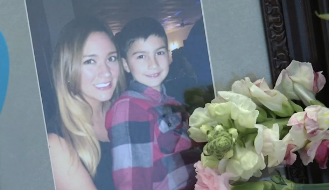 A photo of Natalie Servantes, 28, with her 10-year-old son. - SCREENSHOT, NEWS 4 SAN ANTONIO