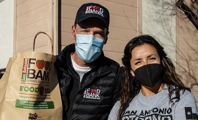San Antonio Food Bank President and CEO Eric Cooper and actress Eva Longoria. - COURTESY / SAN ANTONIO FOOD BANK