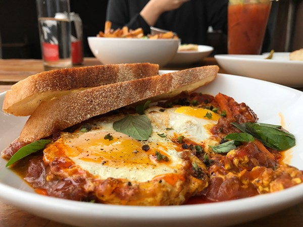 The Eggs in Purgatory ($10) at Alchemy Kombucha and Culture