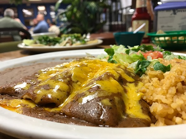 The enchilada plate ($5.99)