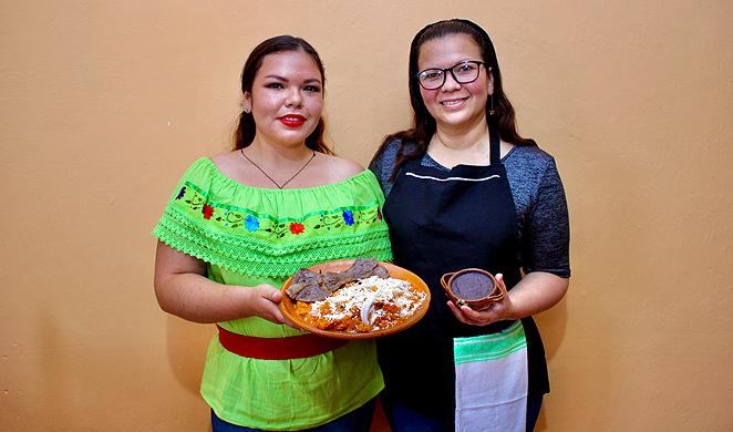 Mother and daughter team at the helm of thriving Veracruz eatery Naku, Antojeria Huasteca, Abigail Sánchez Arellano and Yuritzi López Sánchez - COURTESY NOCHE AZUL SABOR