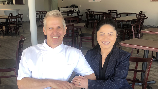 Chef Justin Ward, along with his wife Cristina, will open Glass and Plate Restaurant this spring. - COURTESY GLASS AND PLATE RESTAURANT