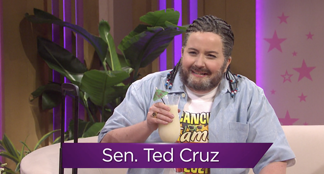 Aidy Bryant portrayed a post-Cancún Ted Cruz in last week's episode of Saturday Night Live. - NBC