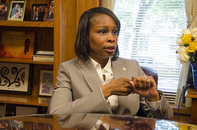 Mayor Ivy Taylor is one of the four city leaders in Central Texas who oppose the recently filed Texas Property Tax Reform and Relief Act. - SARA LUNA ELLIS