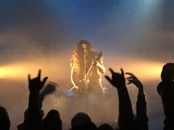 Abbath mezmerized fans with rapid double bass kicks and strobing lights - CHRIS CONDE
