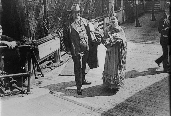 DIEGO Y FRIDA DE REGRESO A MÉXICO,  EN DONDE ESTARÁN HASTA NOVIEMBRE  DEL MISMO AÑO, SAN FRANCISCO,  CALIFORNIA. E.U.A., JULIO DE 1931