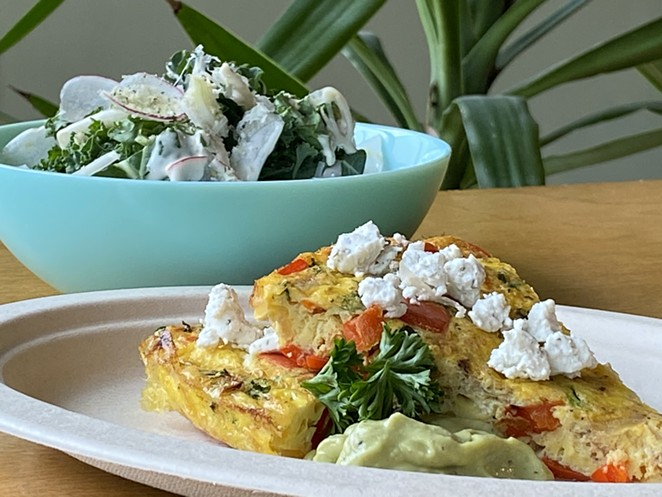 A frittata and kale salad will also be on The Dooryard's new brunch menu. - COURTESY THE DOORYARD