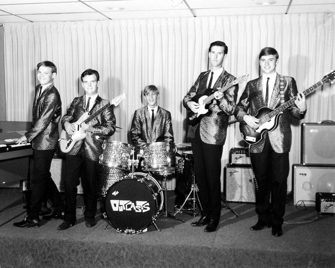 The Outcasts smile for the camera in a mid-'60s promotional photograph. - COURTESY OF SAM KINSEY TEEN CANTEEN COLLECTION
