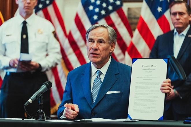 Gov. Greg Abbott discusses an executive order during a 2020 press conference. - INSTAGRAM / GOVERNORABBOTT
