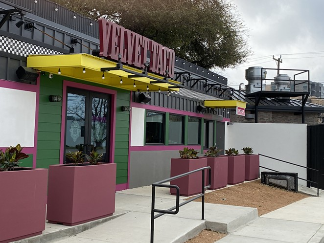 San Antonio's second Velvet Taco, located at the site of revered underground music venue Taco Land, will open later this month. - SANFORD NOWLIN