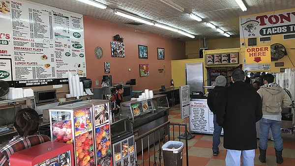 Tony's has a few countertops for dining in, but it's mostly a to-go place. - BEN OLIVO