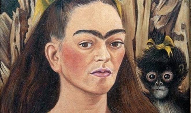 "Frida Kahlo's ""Autorretrato con mono."" - INSTAGRAM / FRIDAKAHLO"