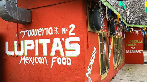 Lupita's No. 2 has some tacos that are unique to S.A., including Tlaquepaque-style barbacoa tacos. - BEN OLIVO