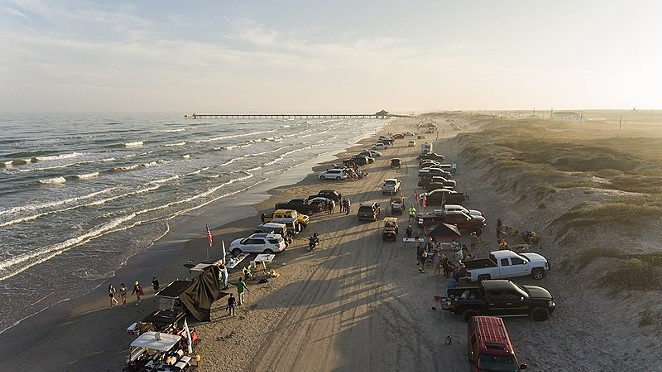 People park on the beach in South Padre Island, pre-COVID. - WIKIMEDIA COMMONS / MATTHEW T. RADER