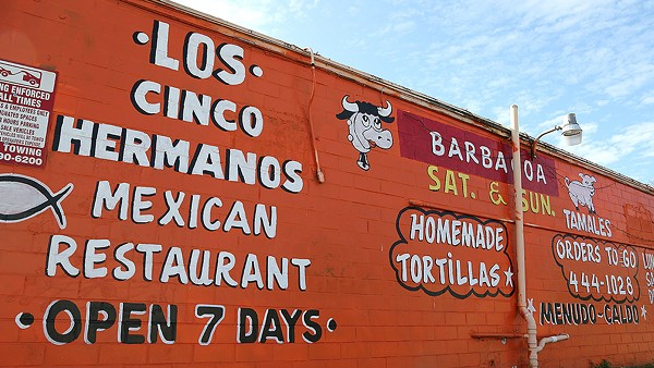 Los Cinco Hermanos, 311 N. New Braunfels Ave., offers solid tacos on the east side. - BEN OLIVO