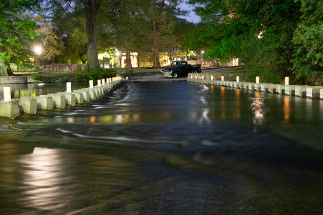 The Low Water Crossing at Brackenridge Park is usually closed to vehicular traffic. - COURTESY OF BRACKENRIDGE PARK CONSERVANCY