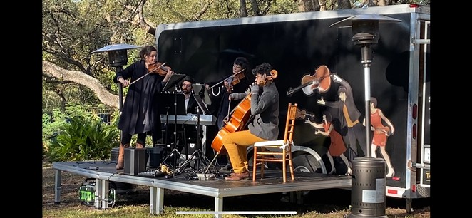 Two of Agarita's concerts this weekend will be held outdoors, utilizing their Humble Hall mobile venue. - COURTESY OF AGARITA