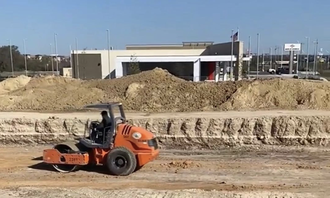 Construction on the new Leon Springs Chick-fil-A location began last week. - INSTAGRAM / CFALEONSPRINGS