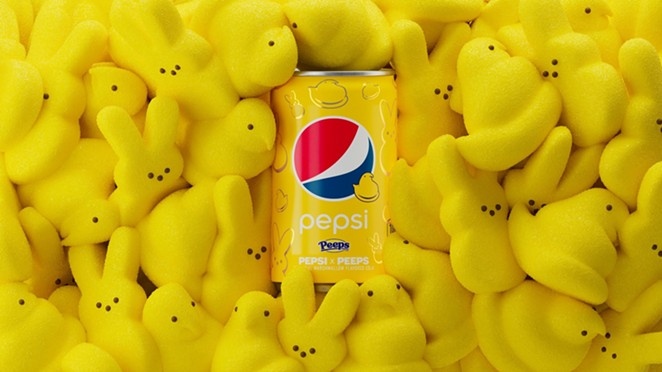 """Pepsi has unveiled a collaboration with Peeps, in the form of a soda with """"marshmallow flavor."""" - PHOTO COURTESY PEPSI"""