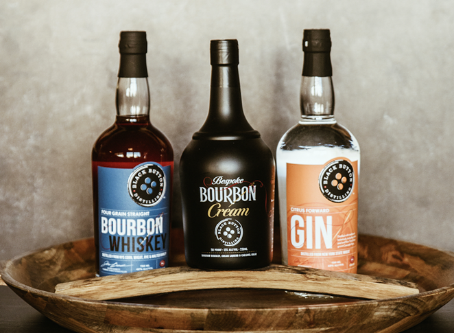 Rochester-based Black Button Distilling this month launched three small-batch spirits in the Lone Star State. - PHOTO COURTESY BLACK BUTTON DISTILLING
