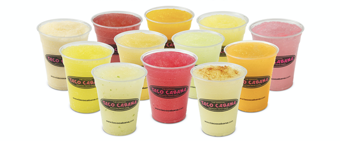 Just weeks after announcing the debut of the Dill Pickle-flavored frozen marg, Tex-Mex giant Taco Cabana has announced the return of MargaritaPalooza. - PHOTO COURTESY TACO CABANA