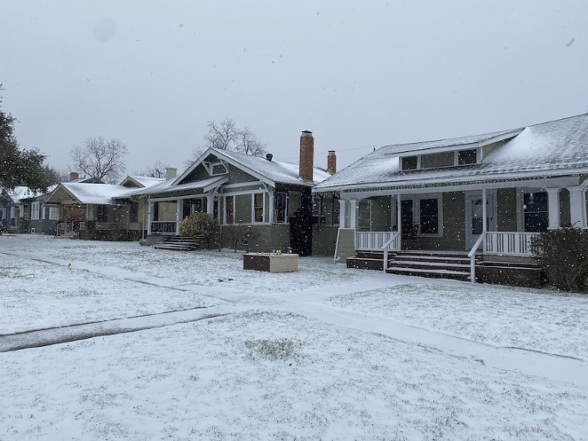 This San Antonio neighborhood was without power during February's winter storm. - SANFORD NOWLIN