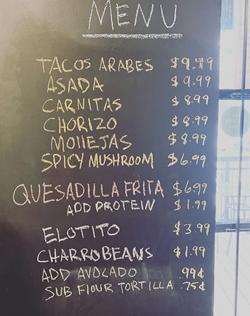 Milpa's opening menu. - INSTAGRAM / MILPAATTHEYARD