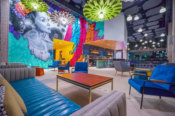 During the event, attendees will take a breather at immersive art gallery Hopscotch's lounge. - COURTESY OF PABST BLUE RIBBON